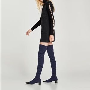 NWT Zara over the knee sock boots
